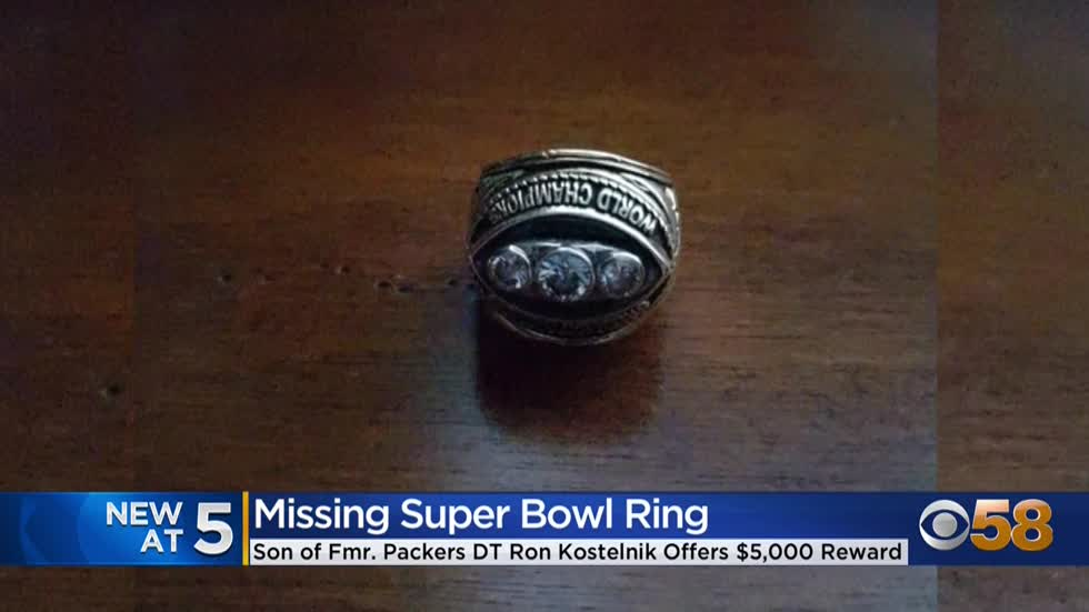 Son of former Green Bay Packer loses dad's Super Bowl ring